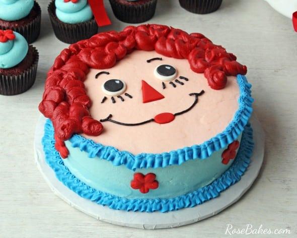Raggedy Ann Face Smash Cake