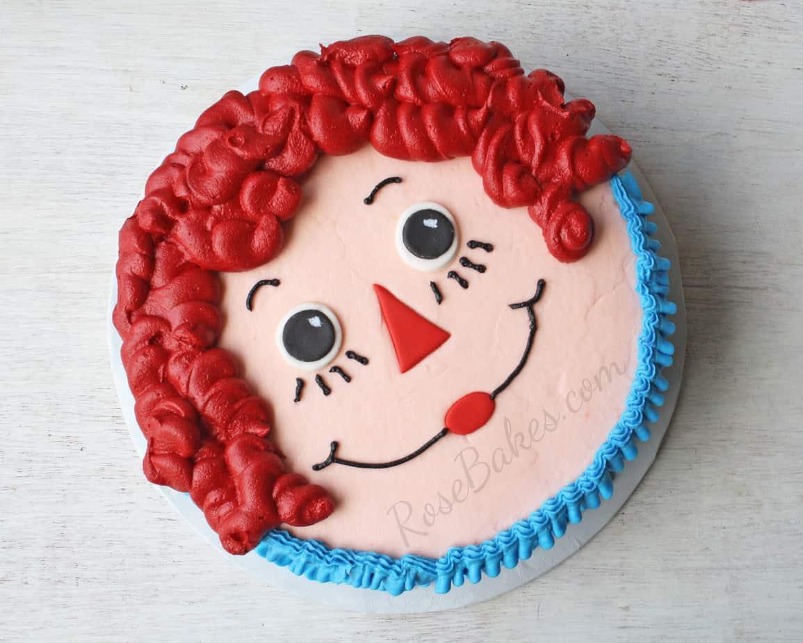 Raggedy Ann Smash Cake