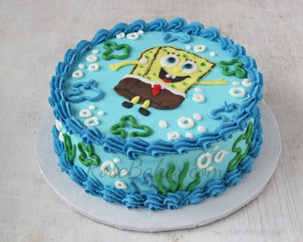 SpongeBob Cake and Smash Cake - Rose Bakes