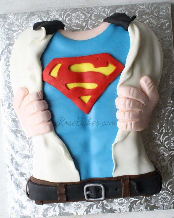 Superman Shirt Chest Cake