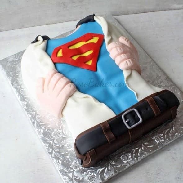 Superman Torso Cake