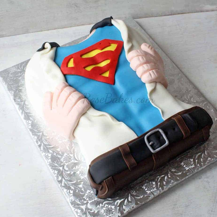 Superman Tearing Open His Shirt Cake Rose Bakes