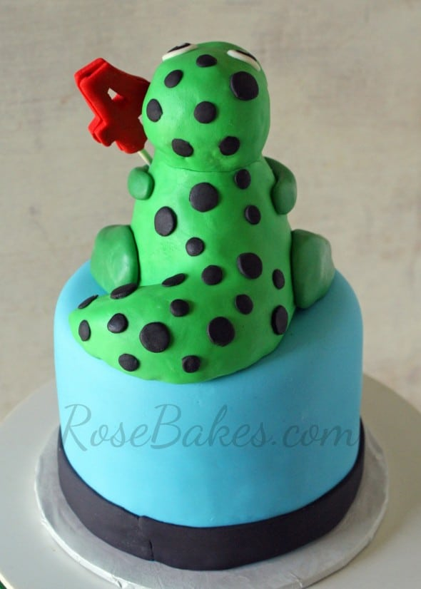 Dinosaur Party: T-Rex Cake and Cupcake Tower - Rose Bakes