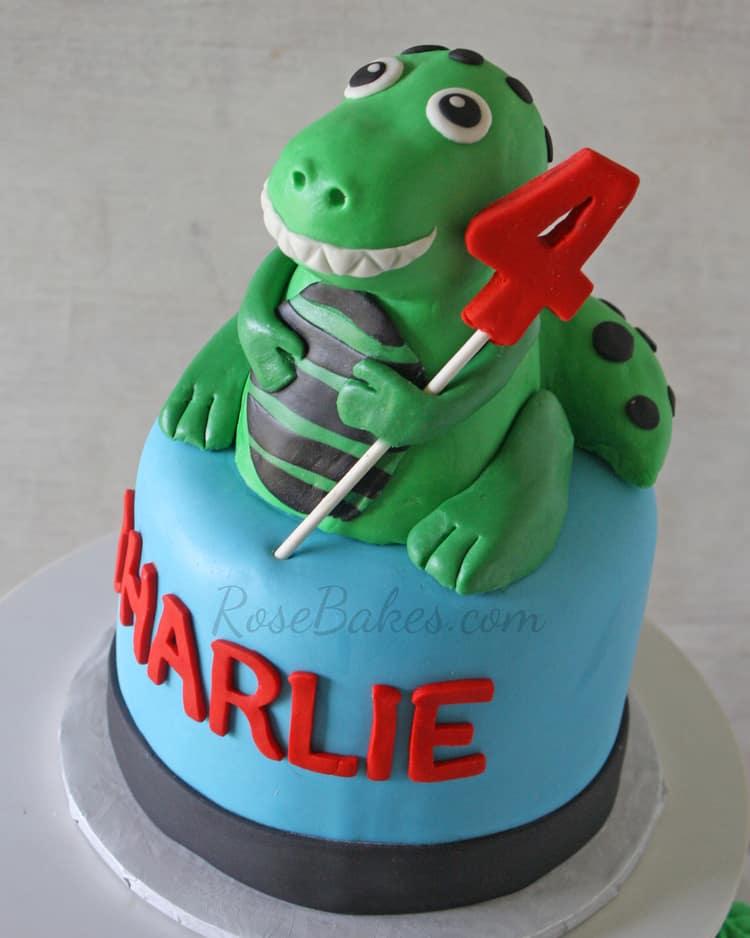 T-Rex Dinosaur Cake Topper | Rose Bakes