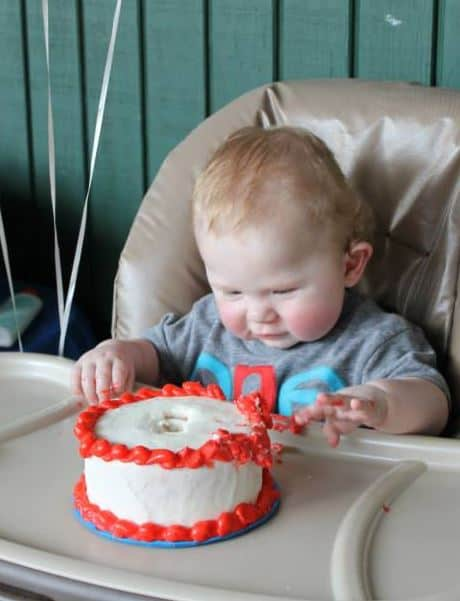 Aiden with Cake