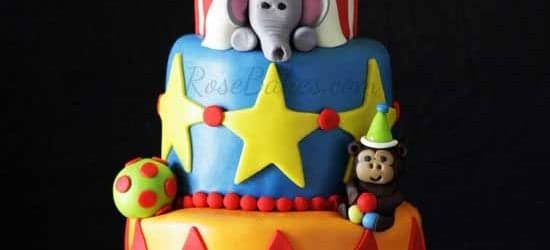 Aiden's Circus Tent Cake