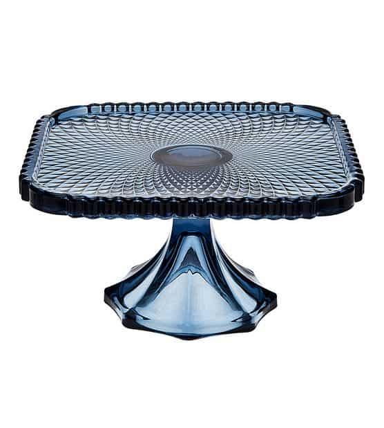 Blue Cake Plate