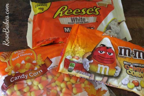Candy Corn White Reese's White Chocolate M&Ms