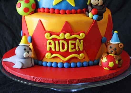 Cake Decorating Things Name : Circus Tent Cake: 1st Birthday - Rose Bakes