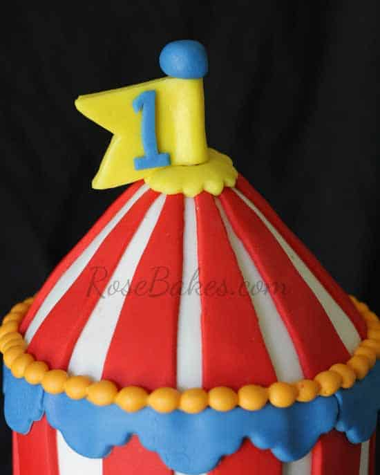 How To Make Circus Tent Cake Topper