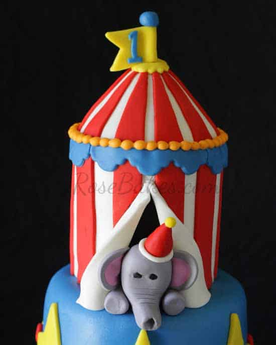 How To Make A Circus Tent Smash Cake