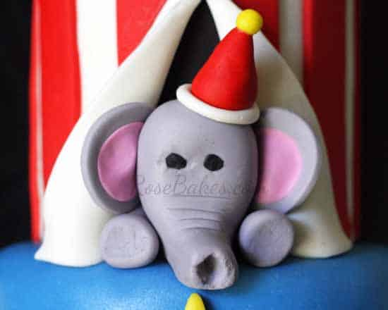 Elephant on the Circus Cake