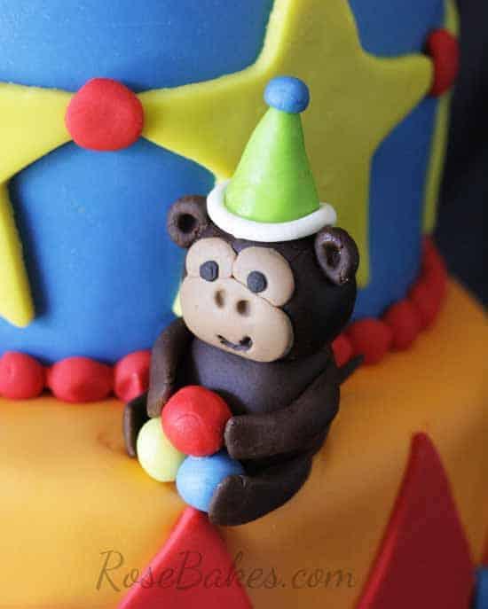 Fondant Monkey for Circus