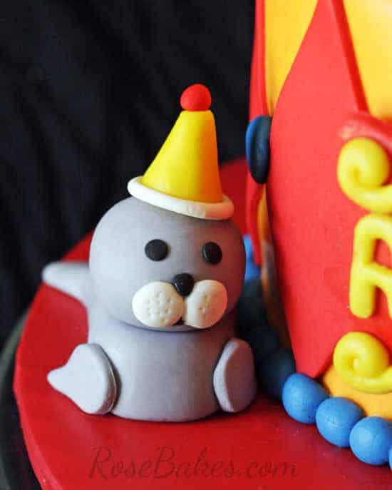 Fondant Seal Cake Topper WM