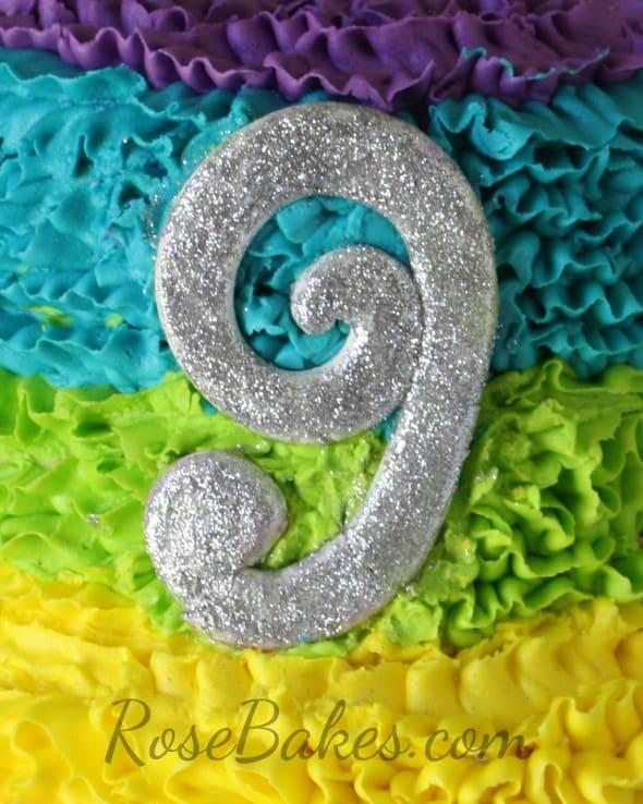 Glittery Cake Topper