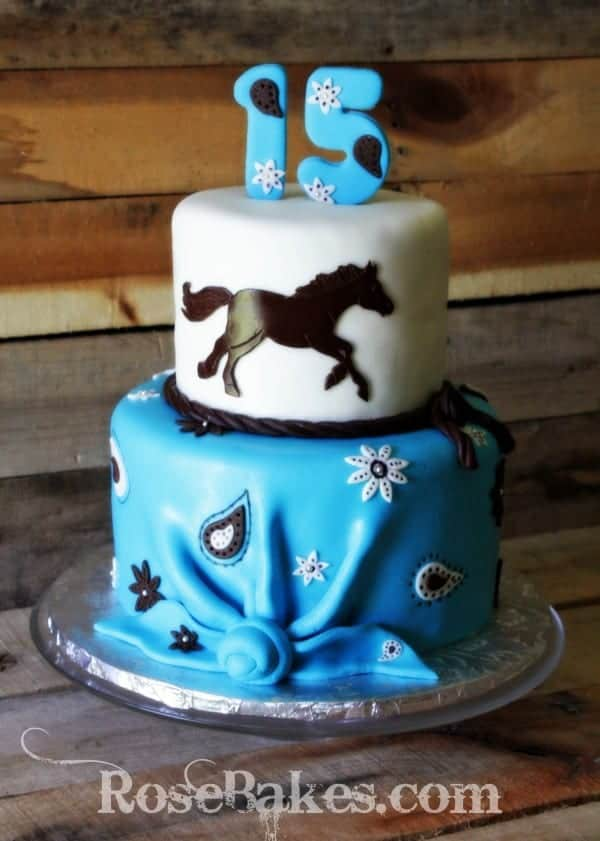 Horse Bandana Girls Cake