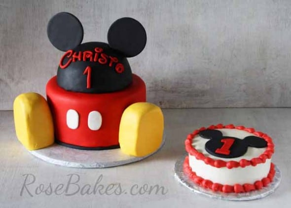 Mickey Mouse Cake and Smash Cake - Rose Bakes