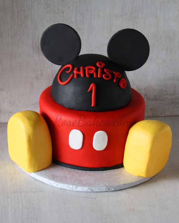 Mickey Mouse Smash Cakes Buttercream: Mickey Mouse Cake And Smash Cake
