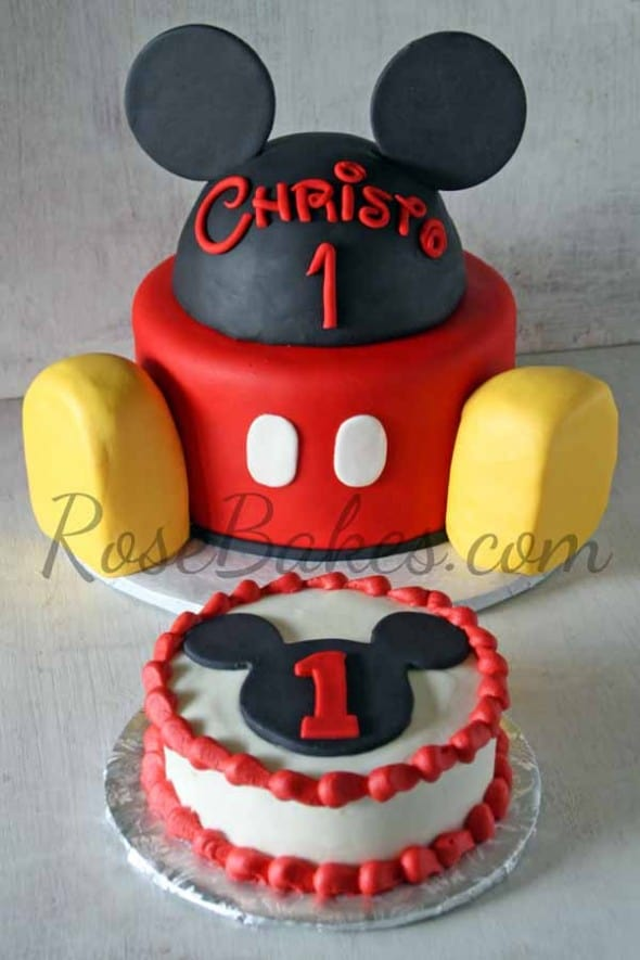 Mickey Mouse Images For Cake : Mickey Mouse Clubhouse 1st Birthday Party   CKayStudios