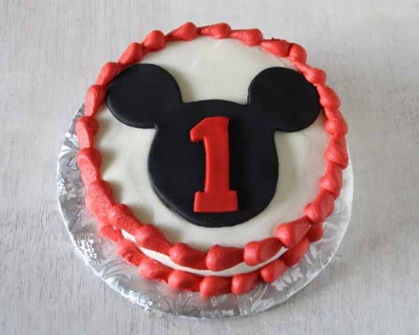 Mickey Mouse Cake And Smash Rose Bakes