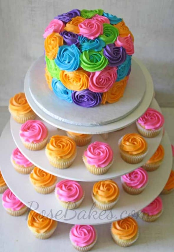 Bright Coloured Birthday Cakes