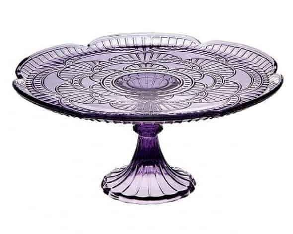 Purple Cake Plate