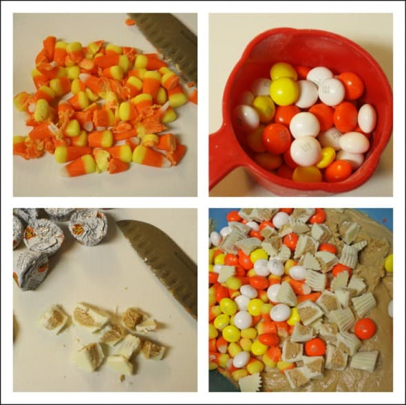 White Chocolate Reese's Candy Corn M&Ms