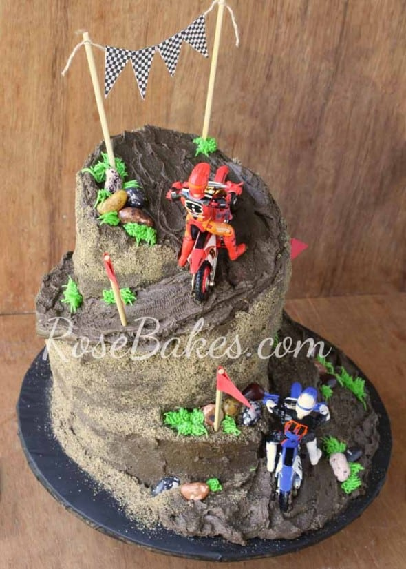 dirt bike racing cake rose bakes. Black Bedroom Furniture Sets. Home Design Ideas