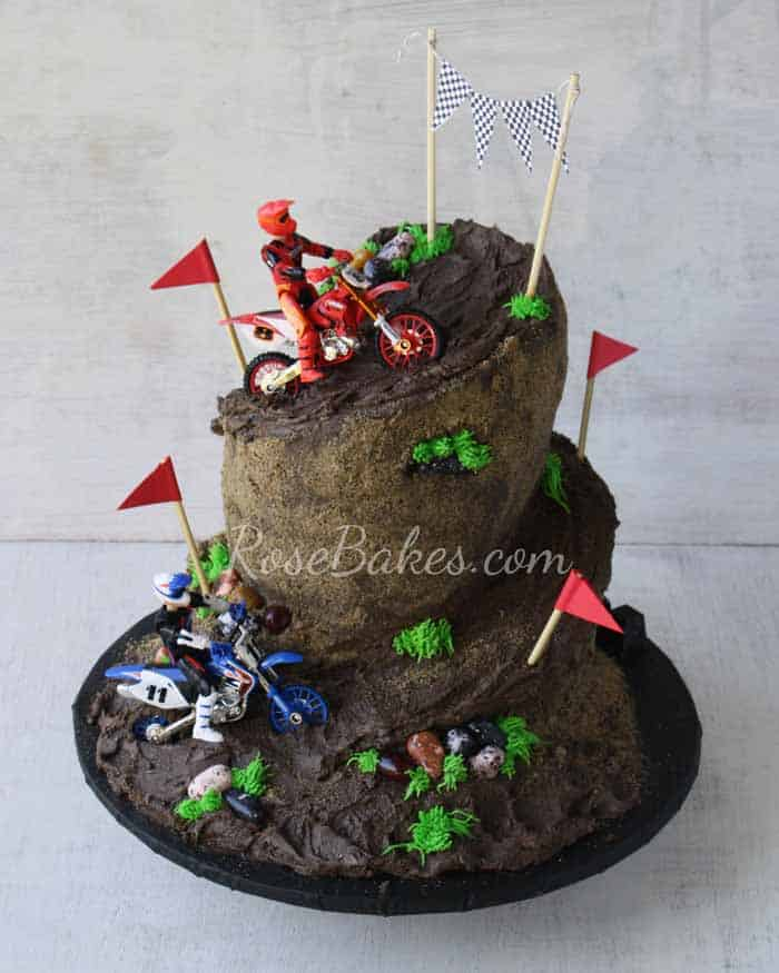 Awesome Dirt Bike Racing Cake Rose Bakes Funny Birthday Cards Online Alyptdamsfinfo