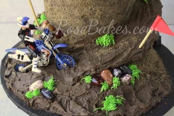 Dirt Bike Racing Cake Bottom Tier