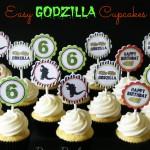 Easy Godzilla Cupcakes