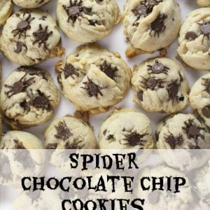 Easy Spider Chocolate Chip Cookies