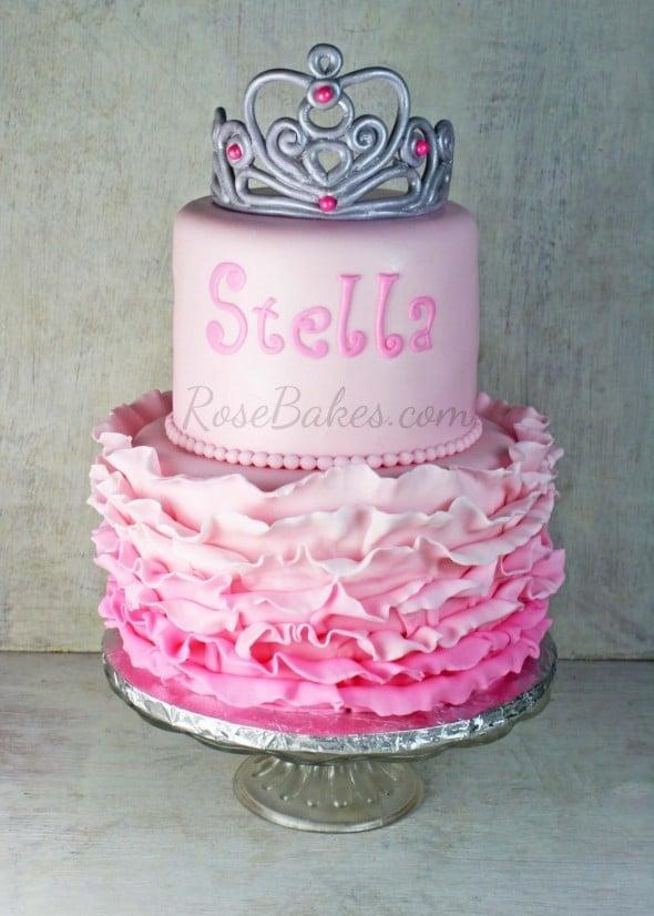 Fondant Ruffles Cake Decorating