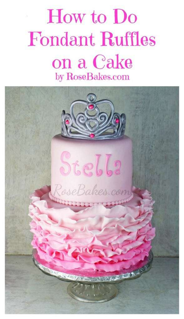 How to Do Fondant Ruffles on a Cake