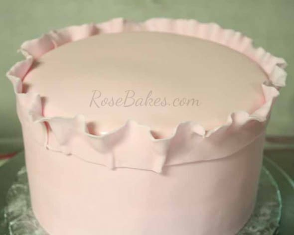 How To Do Fondant Ruffles On A Cake Rose Bakes