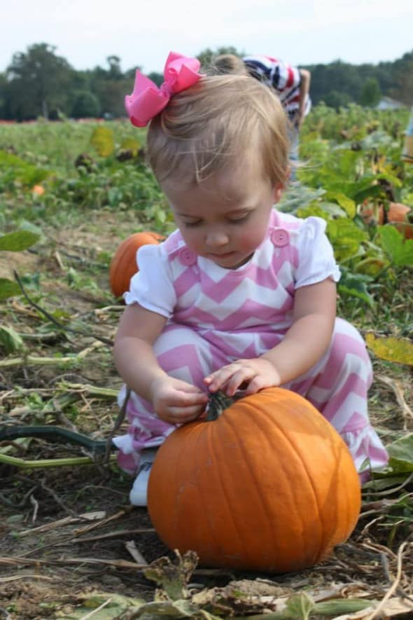 Molly with a Pumpkin