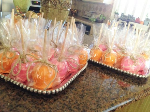 Pink and Orange Candy Apples Jennifer Payne