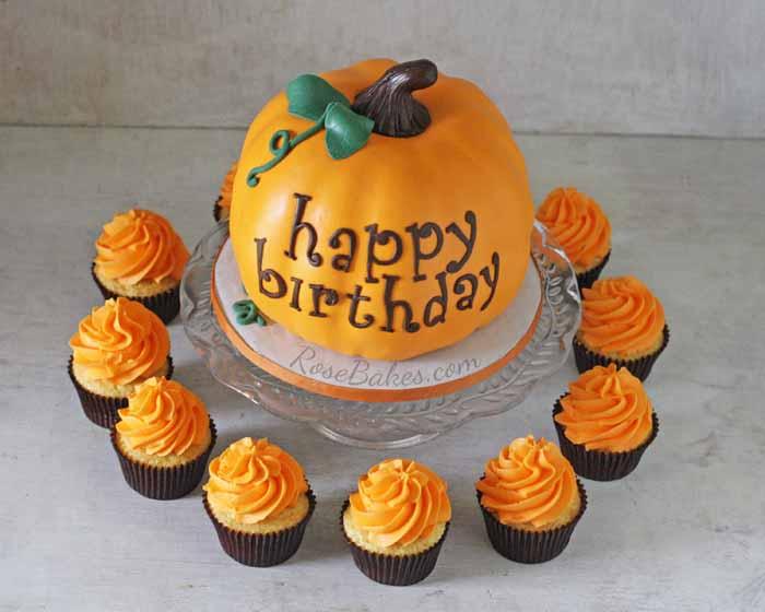 Peachy Happy Birthday Pumpkin Cake Rose Bakes Funny Birthday Cards Online Alyptdamsfinfo