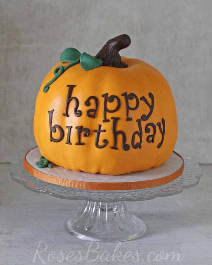 Terrific Happy Birthday Pumpkin Cake Rose Bakes Personalised Birthday Cards Beptaeletsinfo