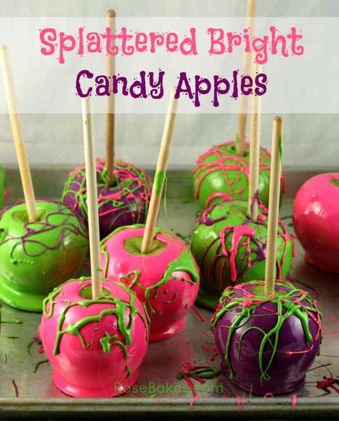 Splattered Bright Candy Apples