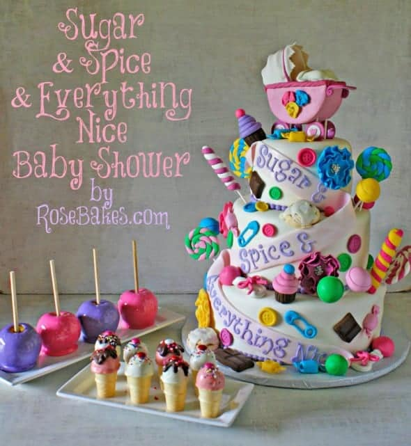 Sugar And Spice Baby Shower: Topsy Turvy Candy Cake