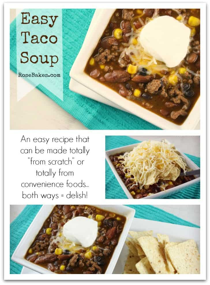 Taco Soup Pinterest