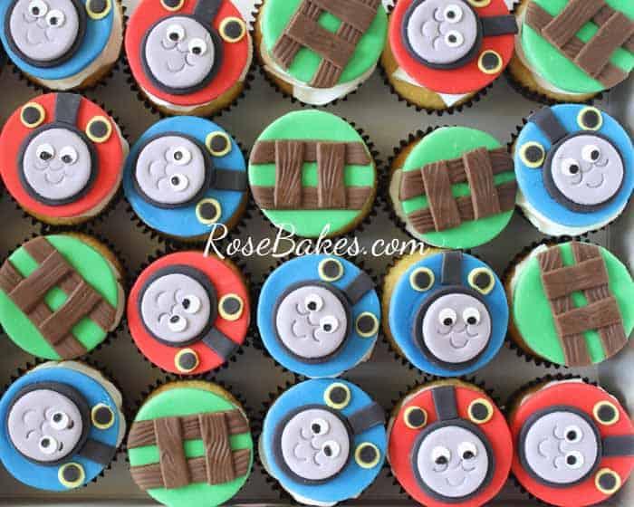 Thomas The Train Cupcakes Rose Bakes