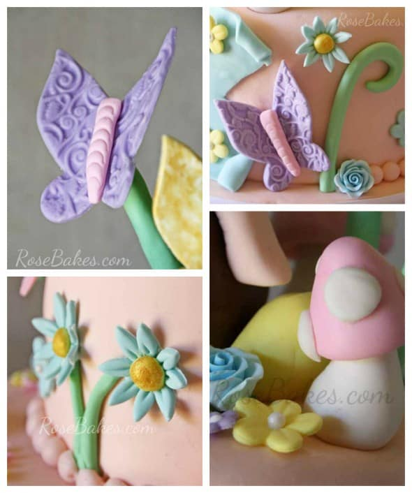 Vintage Fairy Cake Collage