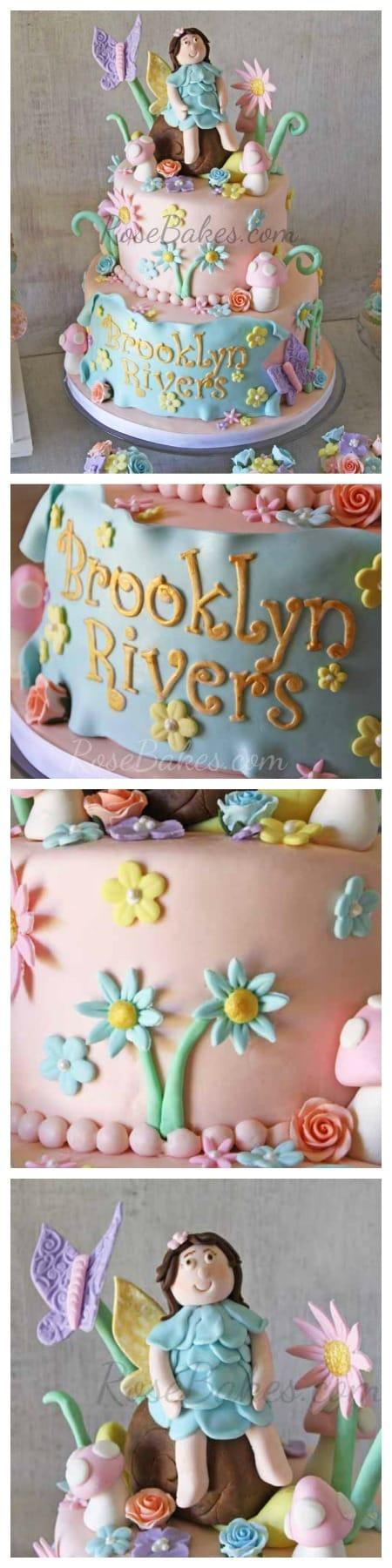 Vintage Fairy Garden Cake RoseBakes.com