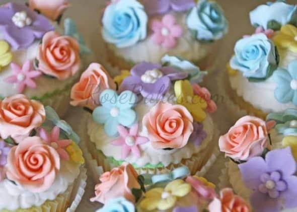 Vintage Fairy Garden Cupcakes