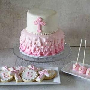 Girl Christening Cake Pops