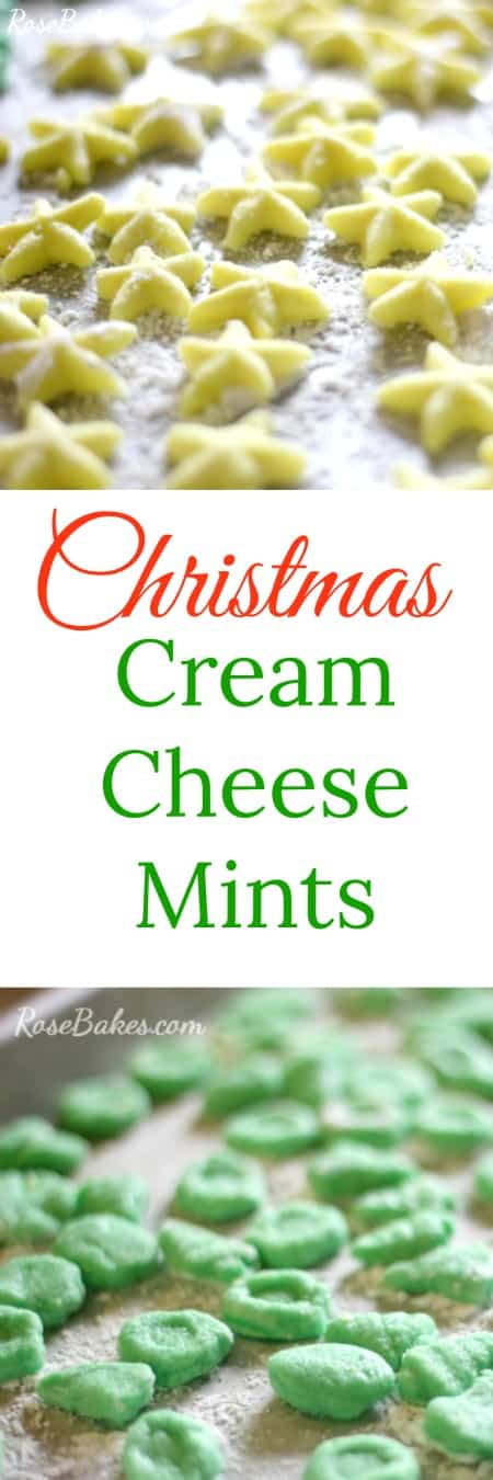 Christmas Cream Cheese Mints Rose Bakes