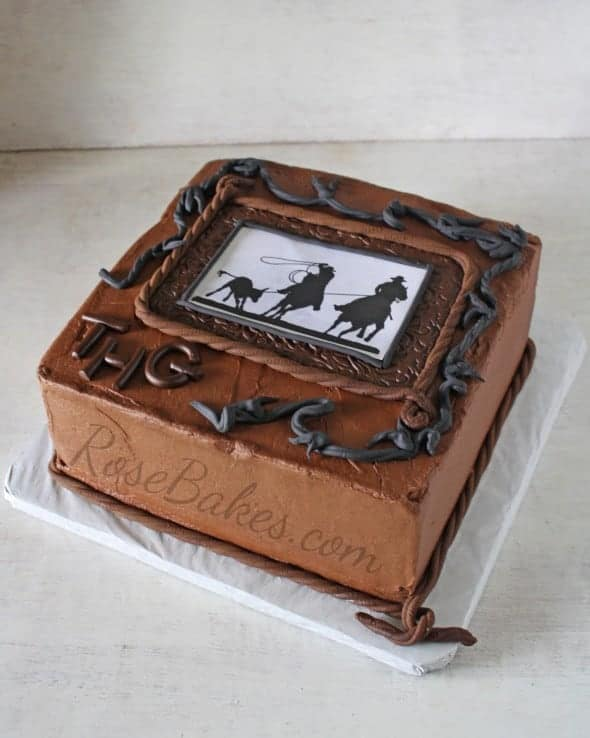 Cowboy Western Chocolate Groom's Cake