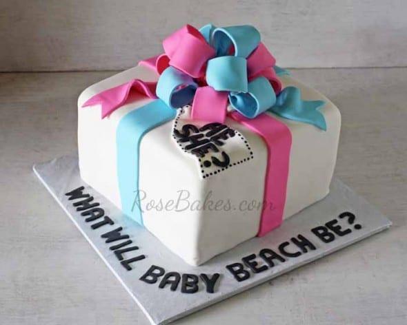 Gender Reveal Gift Cake